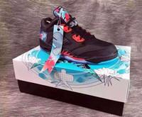 neuer drachen großhandel-Hohe Qualität 5 5 s Niedrigen Chinesischen Neujahrs Drachen Basketball Schuhe Männer Frauen 5 s CNY Drachen Sportschuhe Mit Schuhe Box