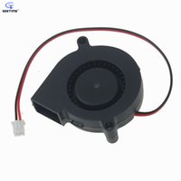 Wholesale 12v Dc Centrifugal Blower - Wholesale- Gdstime 2 pcs lot 50mm 12V DC Centrifugal Blower Fan 5015s Black 50mm x 15mm High Speed Computer PC Case CPU Cooling Cooler