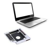 Wholesale Ssd Hard Drive 8gb - 12.7mm Aluminum SATA HDD SSD Enclosure Hard Disk Drive Bay Caddy Optical DVD Adapter for Laptop
