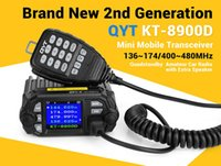 Wholesale High Power Ham Radios - HOT High Power 25W Color Screen QYT KT-8900D Mobile radio quan-standy with external MIC for taxi bus Transceiver Car Truck Ham Radio