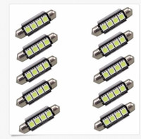 Wholesale 42mm Canbus - 100PCS Canbus 41mm 42mm 4 SMD Festoon SV8,5 C10W 264 5050 LED Interior Reading Bulbs Car Plate Light No polarity White wholesale