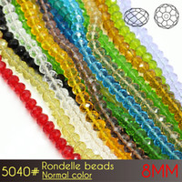 Wholesale Red Crystal Bowl - Fashion DIY Making Rondelle Beads 8mm Normall Color A5040 72pcs set for Decorative Crystal Beads Bowls