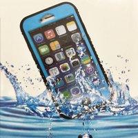 iphone schwimmen fall großhandel-Unterwassergehäuse mit Polycarbonat und transparentem Silikon zum Tauchen Schwimmen für iPhone 6 Plus Smartphone-Abdeckung