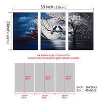 Wholesale Bird Picture Frames - 5-100% Piece hand-painted oil painting board drawing frame to hang cloud tree wall blue bird modern abstract painting the sitting room the b