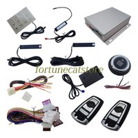 Sistema di allarme PKE di qualità dell'automobile Entrata passiva senza chiave con sensore di scossa Push Start Avvio remoto Smart Keyboard Password Remote Trunk Release