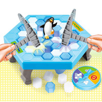 Wholesale Games Break - Penguin Trap Game Interactive Toy Ice Breaking Table Plastic Block Games Penguin Trap Interactive Games Toys for Kids