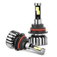Wholesale Headlight W Cree - H1 H4 H7 H11 9005 9006 9007 COB LED Car Headlight Kit w Bright Beam Bulbs N7 80w 8000Lm 6K Cool White CREE - 1 Yr Warranty