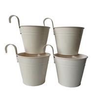 ingrosso gancio rotondo-Trasporto libero bianco rotondo appeso in metallo vaso di fiori vaso da parete in ferro gancio vasi di fiori da sposa vasi di fiori decorativi vaso bonsai