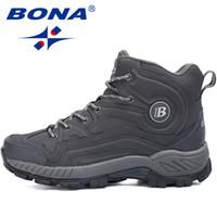 Wholesale Warm Fashionable Boots - Wholesale-BONA 2016 Fashionable Style Guarantee Quality Men Winter Walking Shoes Comfortable Keeping Warm Winter Boots Women Free Shipping
