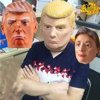 Wholesale President Masks - USA President Candidate Mr Trump Masks Halloween Mask Latex Face Mask Billionaire Presidential Donald Trump Latex Masks