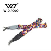 Wholesale W D POLO New patchwork women bag strap couple handbags straps woven national stylish design rainbow color bag belts P1875