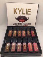 Wholesale Bright Charms - Kylie 12 Colors Charm Moisturizing Bright Lipgloss Set liquid lipstick 12color Kylie Charm Lip Gloss Set Non Stick Cup