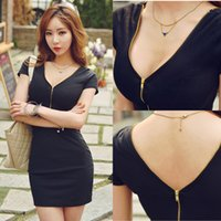 Wholesale Girl S Night - Wholesale Manufacturers Summer Sexy Girl In The Long Black Dress Lady Tight Skirt Skirt Female Backing Zipper Temptation Nightclub