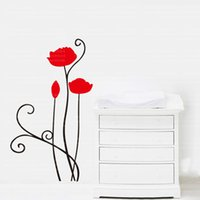 Wholesale Red Sticker Paper - 9254 New Removable Red Rose Life Is The Flower Quote Wall Sticker Mural Decal Home Room Art Decor DIY Romantic Delightful