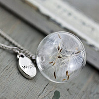 e8c4938766d Wholesale make wish jewelry for sale - Group buy 8pcs Dandelion Necklace  Make A Wish Glass