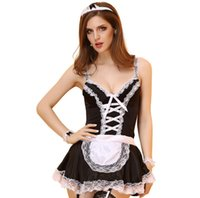 Black Sexy Halloween Maid Costume Girl Uniform Dress Costumes Oktoberfest Festival Stage Costumi Party COS Gioca