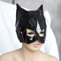Wholesale Top Sexy Woman Toys - Top Grade Sexy Adults Games Latex Faux Leather Sex Mask Men and Women Animal Bondage Fetish Mask Erotic Toys Sex Products For Couples