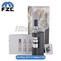 Wholesale Glass Entry - Top selling electronic cigarette Justfog Q14 Starter Kit Entry MOD products 900mah build in battery 1.8ml capacity Q14 compact Kit