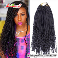 Wholesale Loop Hair Extensions Pack - 22inch Faux Locs Curly Crochet Hair Extensions Crochet Goddess Locs Synthetic Braiding Hair 24 strands pack