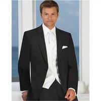 Wholesale Men S Western Suit Jacket - Custom Made Fashion High Quality Western Style Men Suits Tuxedos Groomsman Three Piece Suit Wedding (jacket+pants+vest) N806