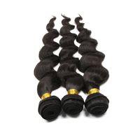 Wholesale Grade 5a Unprocessed Hair - Queen Loose Wave 3 Bundles Grade 5A Brazilian Virgin Human Hair Extension 100% Unprocessed Wavy Hair Weave Machine Weft Hand Selected