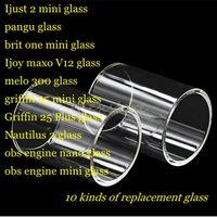 ingrosso serbatoio per ijust-Ijust 2 pangu brit one Ijoy maxo v12 melo 300 griffin 25 plus nautilus 2 obs engine nano tank Tubo in vetro di ricambio Pyrex