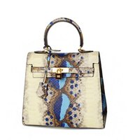Wholesale Pattern Lock - 2017 new women handbags Euramerican Fashion snake pattern leather single shoulder bag toes messenger crossbody Luxury brand bag
