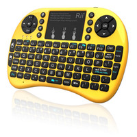 Wholesale Russian Rii Mini I8 - Rii mini i8+ 2.4G Wireless gaming keyboard backlit English Hebrew Russian With TouchPad Mouse for Tablet Mini PC