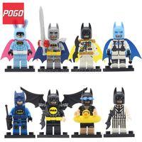 Wholesale Dc Superheroes Action Figures - DC Superheroes Bataman Duck Swim Ring Action Figure 8pcs lot PG8047 Building Blocks Bricks Toys For Children Gifts Sets Kids