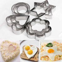 CE / EU Cookie Moulds Metal Hot 12pcs Stainless Steel Cookie Biscuit DIY Mold Star Heart Cutter Baking Mould New Fruit Cutter
