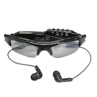 Wholesale mp3 player video recorder resale online - Sunglasses Camera with MP3 player Portable Eyewear DVR mini camcorder Sunglasses DVR Mini Audio Video Recorder Black in retail box