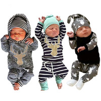 Wholesale Boys Zebra Outfits - Baby Kids Clothing Set Newborn Boys Girls Cartoon Outfits Clothes Outerwear Spring Autumn t-shirts Long Sleeve and Pants Infant New Fashion
