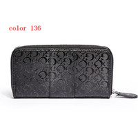 Wholesale fashion women wallet PU leather female long zipper purse European style new arrival girl wallets color136