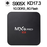 Android 6.0 TV Box MXQ pro 4K Quad Core KD17.3 8G / 1G Amlogic S905X Smart TV Box soporte WiFi 3D OTH039B