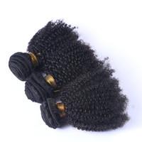 cambodian derin kıvırcık bakire saç toptan satış-8A Perulu Hint Malezya Moğol Kamboçyalı Brezilyalı Derin Kıvırcık Bakire Saç Örgü 3/4/5 Demetleri Ucuz Kinky Kıvırcık İnsan Saç Uzatma