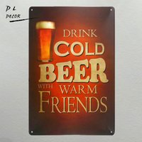 DL-COLD BEER WAEM FRIENDS cartello in metallo da parete Vintage Metal Craft Pub garage arredamento moderno da parete