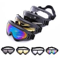 мотоциклетные очки оптовых-2019 X400 Защита от ультрафиолетового излучения Спорт на открытом воздухе Лыжи Сноуборд Скейт Очки Мотоцикл Внедорожник Велосипедные очки Очки Очки Объектив Солнцезащитные очки с мотором