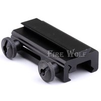 Wholesale 20mm Dovetail to mm Mount Weaver Picatinny Rail Base See Through Adapter Scope Accessories