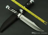 sabit bıçak avı bıçağı bowie toptan satış-ÜCRETSIZ NAKLIYE Yeni AHŞAP Kolu Keskin Survival Bowie Avcılık Sabit Bıçak Bıçak k302A