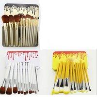 Wholesale Iron Pieces Wholesale - 2017 Kylie Makeup Brush 12 pieces Professional Makeup Brush set Kit +Iron box