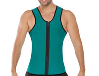 Wholesale Green Vests For Men - Neoprene Running Vests 2017 Men Hot Shaper Slimming Vest Sport Ultra Sweat Two Side Body Shaper Corset for Posture Waist Trainer 1 Pc
