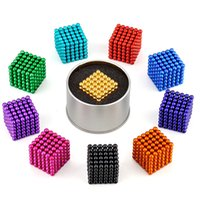 Wholesale Neodymium 15 - 15 color 216pcs 5mm magnetic ball Magic ball buckyballs Neocube neodymium Toy Neo Cubes Puzzle ball Toy Sphere Magnet Magnetic Bucky Balls