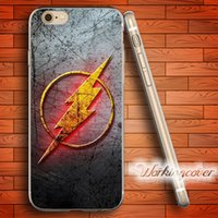 Wholesale Flash Case For Iphone 4s - Coque The Flash Tv Series Soft Clear TPU Case for iPhone 7 6 6S Plus 5S SE 5 5C 4S 4 Case Silicone Cover.