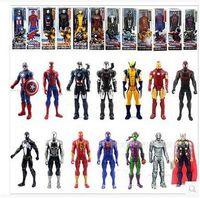 velhas figuras de ação venda por atacado-Figuras de Ação de PVC 12 Polegadas Os Vingadores Spiderman Homem De Ferro Thor Figuras de Ação Super Heroes Figura Brinquedos Presente das Crianças
