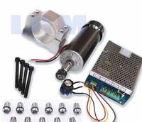 Wholesale Cnc Motors Kits - 1set   4pcs 500W scnc spindle motor + 500W Power supply + 52mm clamps + 13pcs ER11 cnc router spindle motor kit Free by DHL