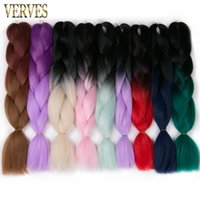 Wholesale One Piece Synthetic - Braiding Hair one piece 24'' wholesale Yaki straight Synthetic High Temperature Fiber 100g ombre Braid Hair Extensions free shipping
