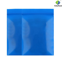 Wholesale Thick Zip Bag - 5x7cm(2x2.75in) Thick poly zip lock three side seal Flat pouches blue small resealable plastic bags for Household package