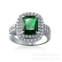 Wholesale Emerald Green Set - Emerald Diamonique Cz Gold Plated Wedding Ring Engagement Band Sz6-10 New Gift