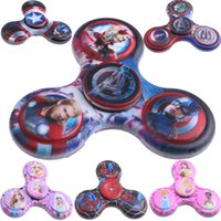 Wholesale Hand tri spinner Hand Spinner Star Wars Super Heroes Fidget Spinners Captain America Decompression Anxiety Spinner Toy
