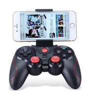Wholesale Tv Android Tablet White - Wireless Bluetooth Game Gamepad Controller Joystick Black&Red White&Red For Samsung etc Android Smart Phone Tablet PC TV Box